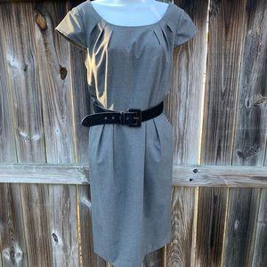 Women's (10) Tahari Dress Gray w/ Belt